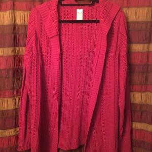 Red ladies sweater jacket